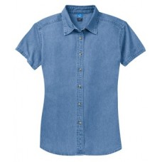 Port & Company® - Ladies Short Sleeve Value Denim Shirt