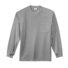 Port & Company® - Long Sleeve Essential T-Shirt with Pocket